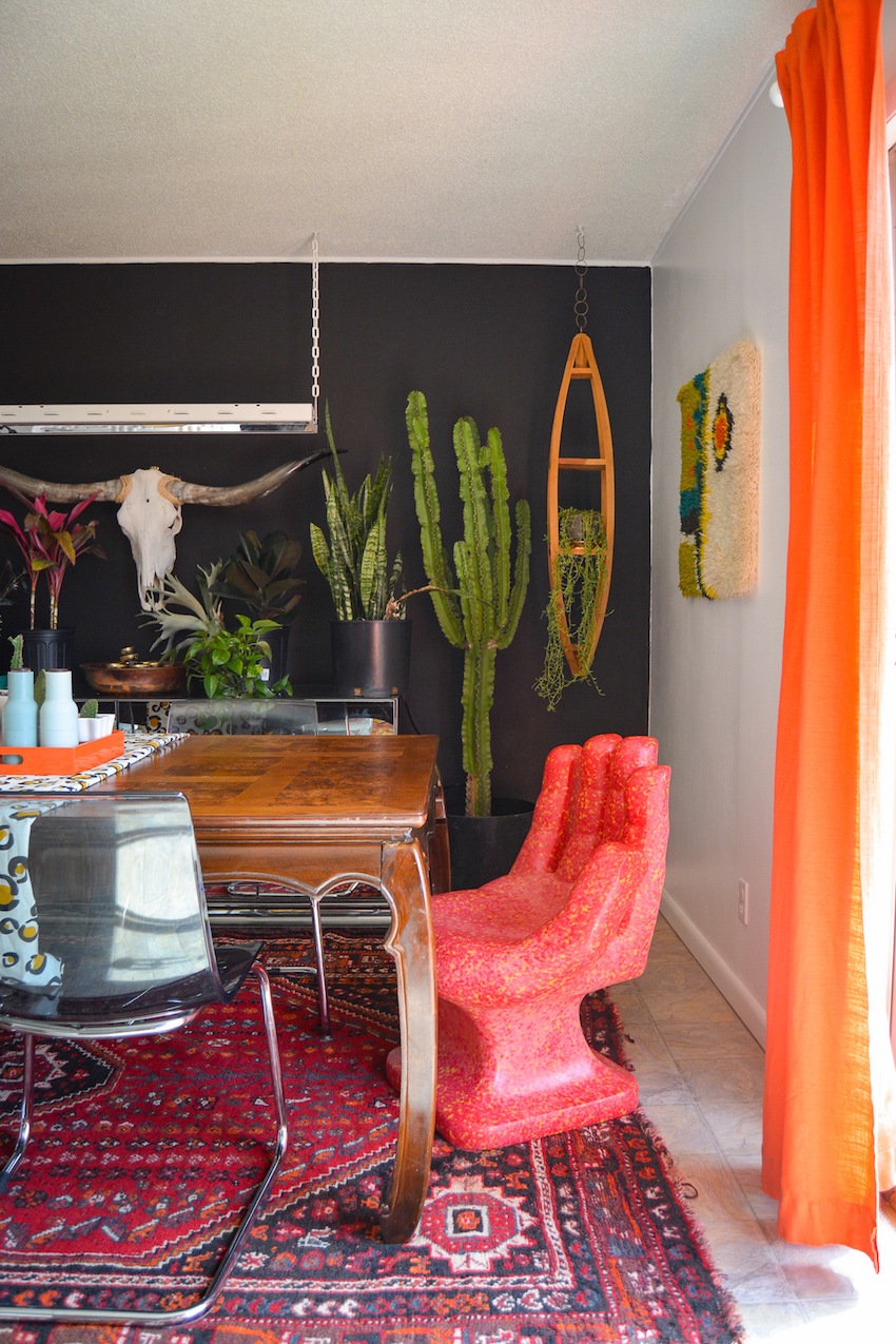 A Glam Tennessee Rental where Mid-Century Meets The 80s | Design*Sponge