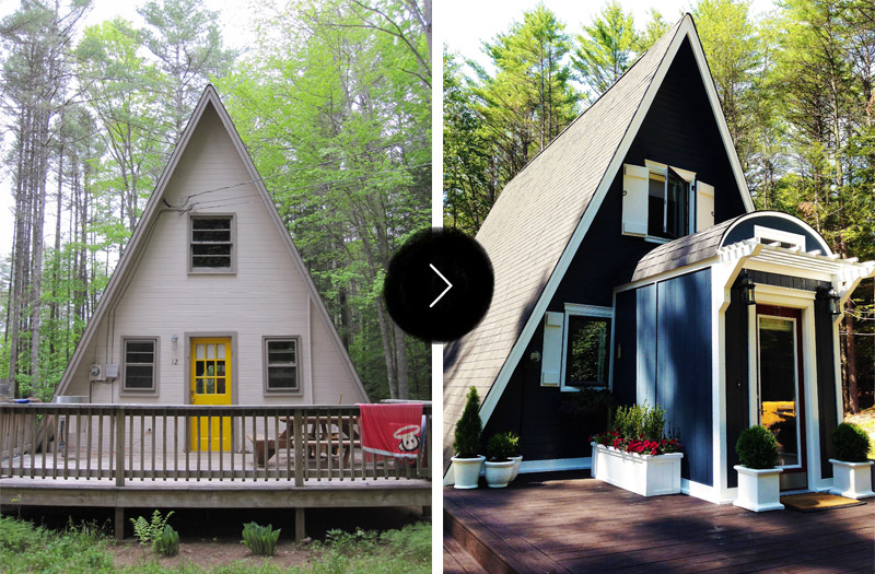 Top 20 Before & Afters Of All Time: #5 A-Frame Cottage