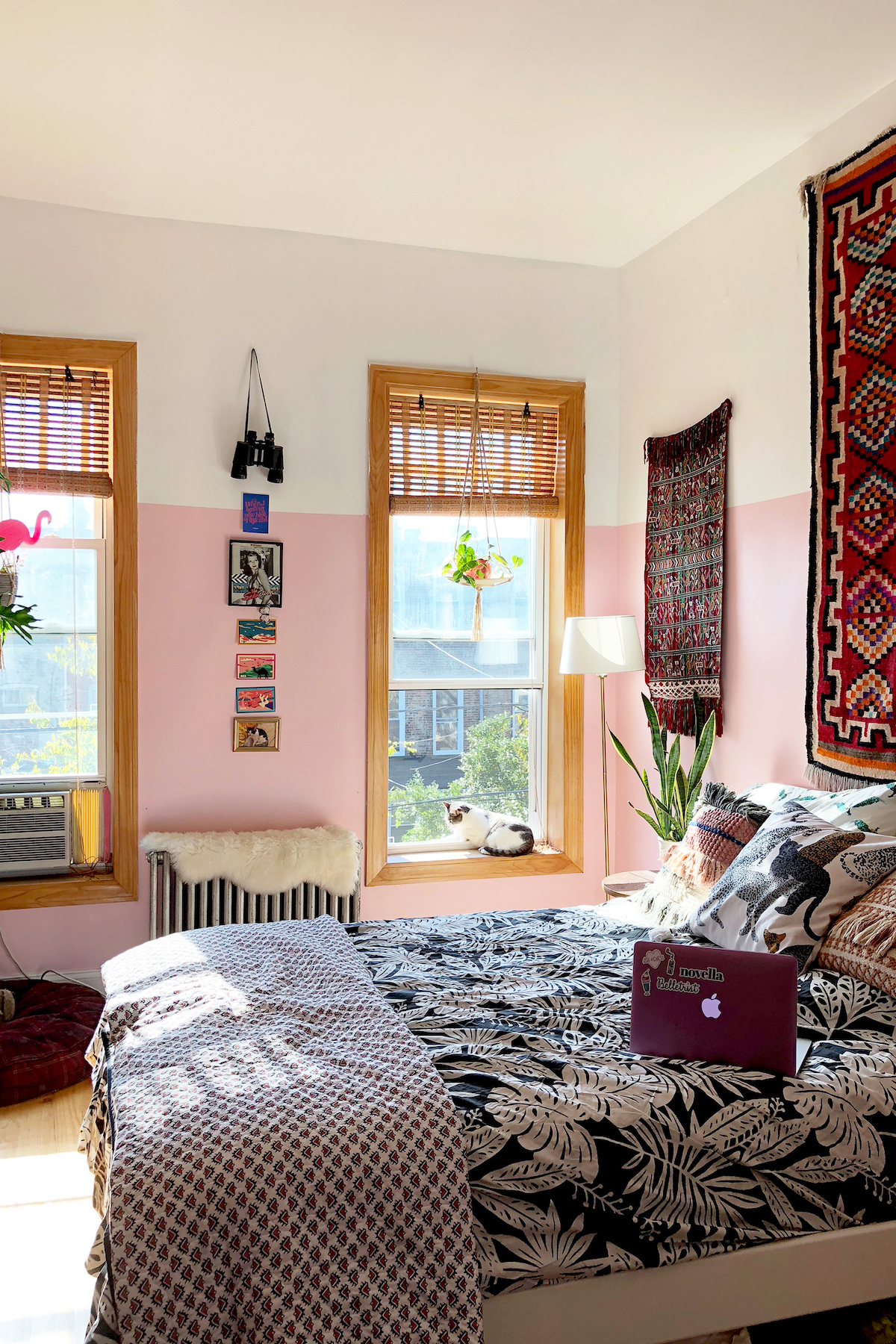 In Brooklyn, A Pink Apartment Bursting with Vibrant