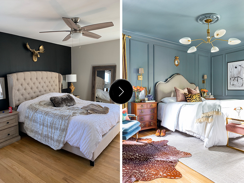Before & After: A Bedroom Turns into A Modern Traditional Gem