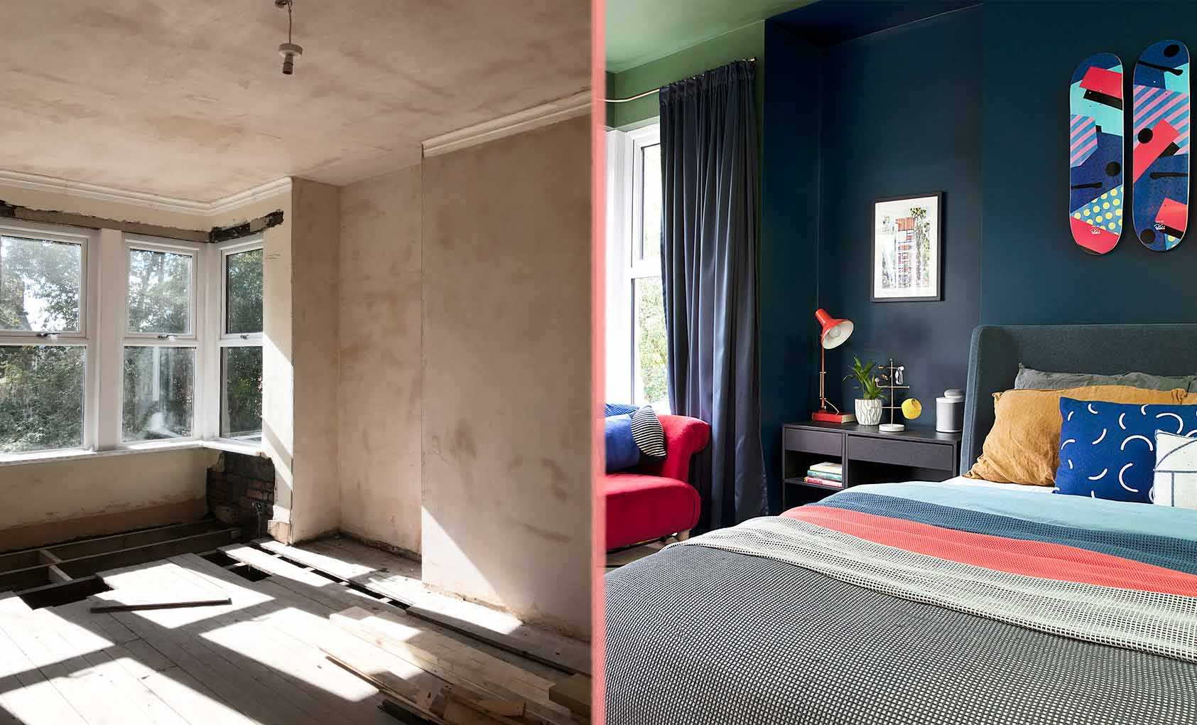 Before & After: An English Home's Multicolored Makeover, Design*Sponge